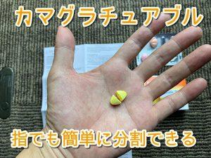 カマグラチュアブルは指でも簡単に分割できる