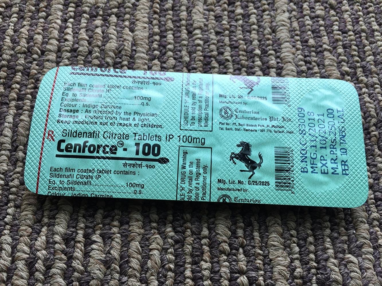 センフォースは10錠入りで1800円・ED薬最安値です