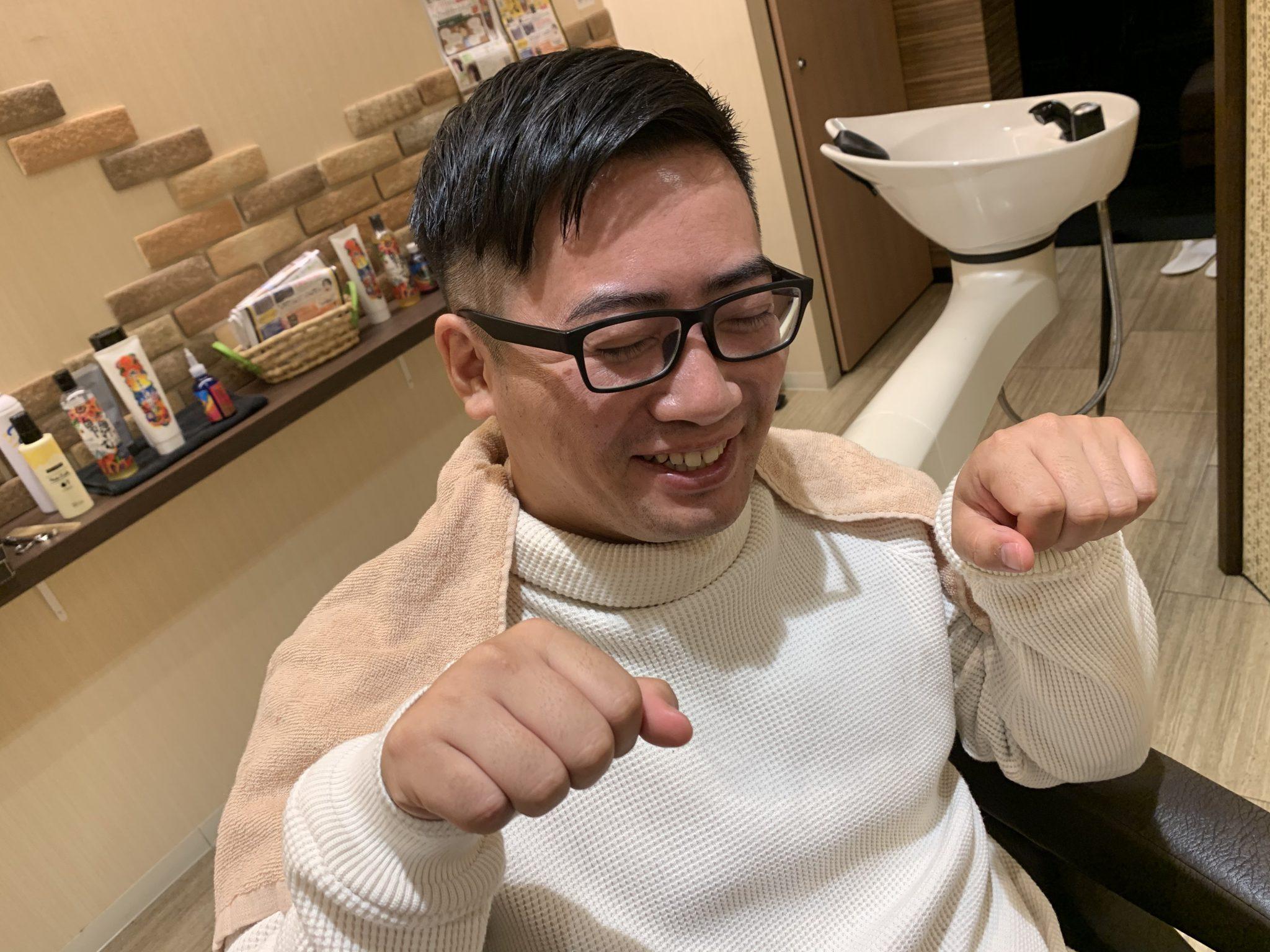 高松市で美容室と理容室を運営する男のbond藤塚店のメンズのお客様